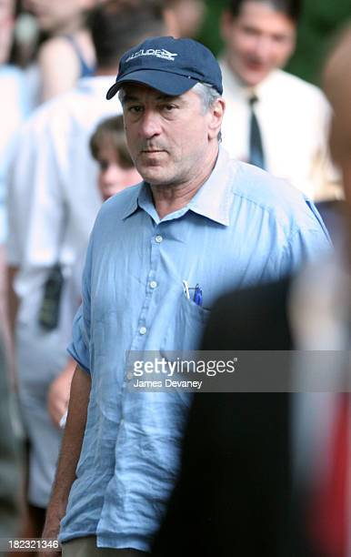 Robert De Niro during Matt Damon and Angelina Jolie on Location for Good Shepherd August 18 2005 at Long Island in Long Island New York United States