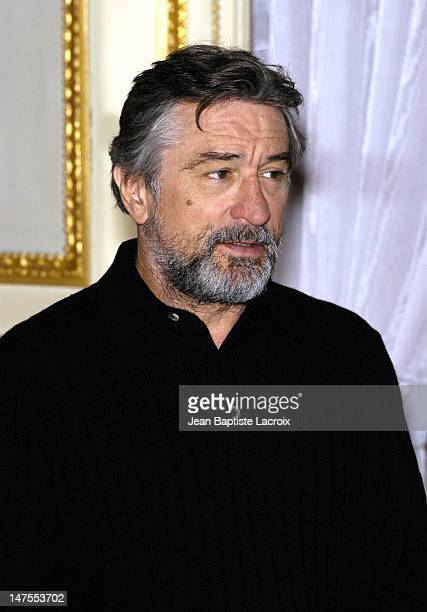 Robert De Niro during Press Conference for 'Analyze That' Paris at Crillon hotel in Paris France