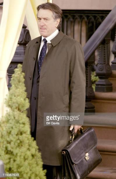 Robert De Niro during Robert DeNiro Filming 'Code Blue' at Brooklyn New York in Brooklyn New York United States