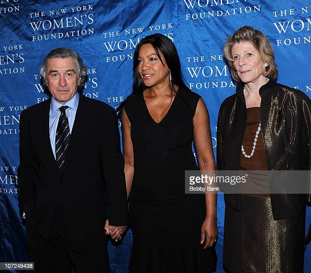 Robert De Niro Grace Hightower De Niro and Agnes Gund attends the The New York Women's Foundation 'Stepping Out Stepping Up' Dinner at Gotham Hall on...
