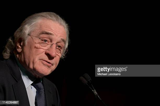 Robert De Niro is honored during the NAN Keepers Of The Dream Awards at the Sheraton Times Square on April 03, 2019 in New York City.