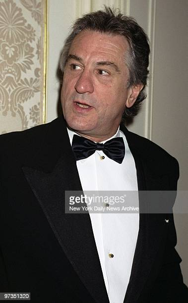 Robert De Niro is on hand at the Museum of the Moving Image dinner honoring film producer Jane Rosenthal at the St Regis Hotel