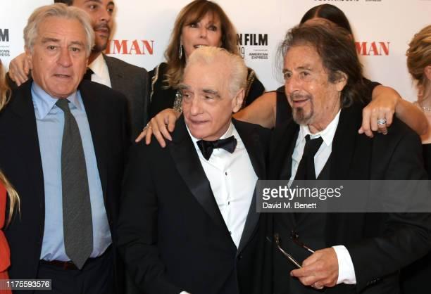 Robert De Niro, Jack Huston, Martin Scorsese, Jane Rosenthal and Al Pacino attend the International Premiere and Closing Night Gala screening of...