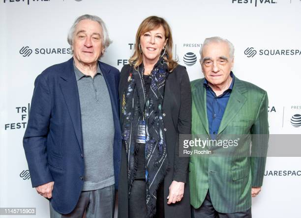 Robert De Niro Jane Rosenthal and Martin Scorsese attend Tribeca Talks Directors Series Martin Scorsese with Robert De Niro during the 2019 Tribeca...
