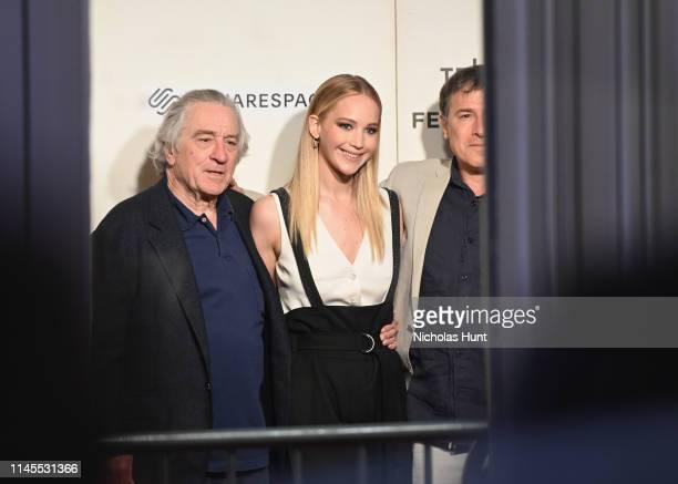 Robert De Niro Jennifer Lawrence and David O Russell attend the Tribeca Talks Director Series David O Russell with Jennifer Lawrence at the 2019...