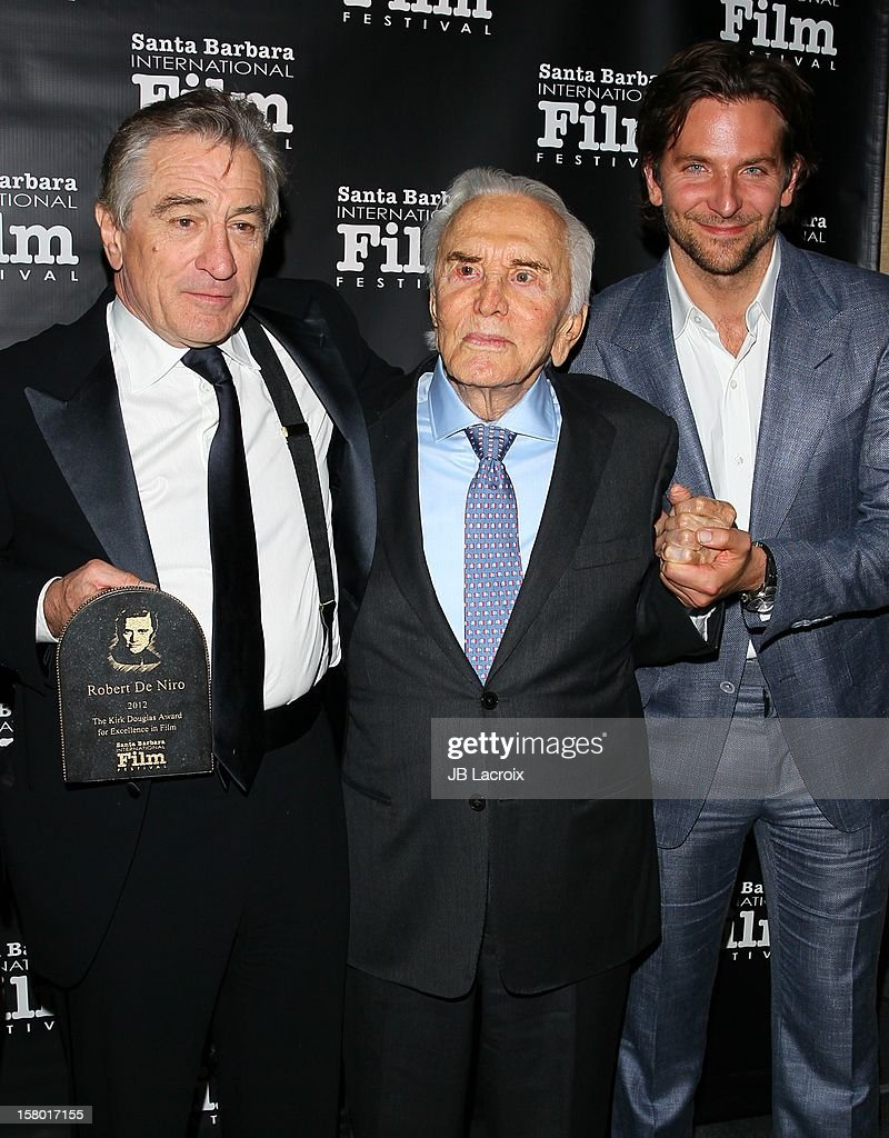 Robert De Niro, Kirk Douglas and Bradley Cooper attend the 7th Annual Santa Barbara International Film Festival - Kirk Douglas Award For Excellence In Film Honoring Robert DeNiro at Bacara Resport And Spa on December 8, 2012 in Santa Barbara, California.