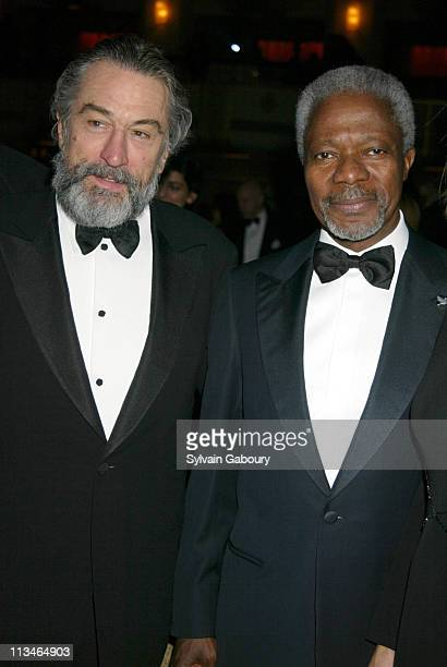 Robert De Niro Kofi Annan during Citizens Committee for NYC's New Yorkers for New York Awards at Waldorf Astoria in New York New York United States