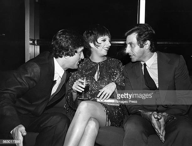 Robert De Niro Liza Minnelli and Al Pacino circa 1981 in New York City