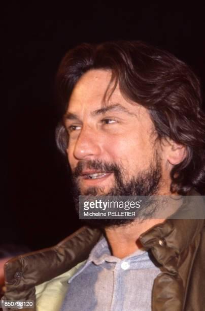 Robert De Niro lors d'une conférence de presse au Festival d'Avoriaz le 14 janvier 1984 France