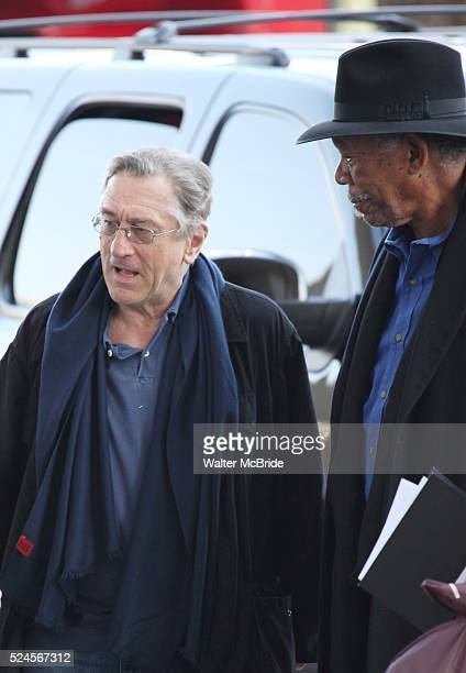 Robert De Niro Morgan Freeman attending the Rehearsals for the 35th Kennedy Center Honors at Kennedy Center in Washington DC on December 2 2012