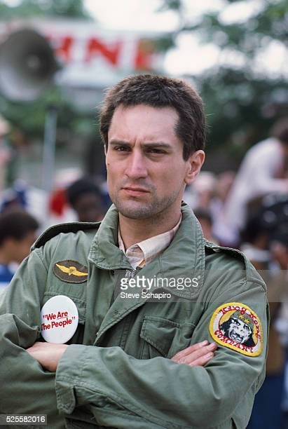 Robert De Niro on the set of Martin Scorsese's Taxi Driver