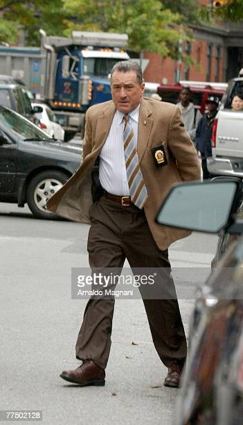 Robert De Niro on the set of the new movie ''Righteous Kill'' on October 25 2007 in New York City