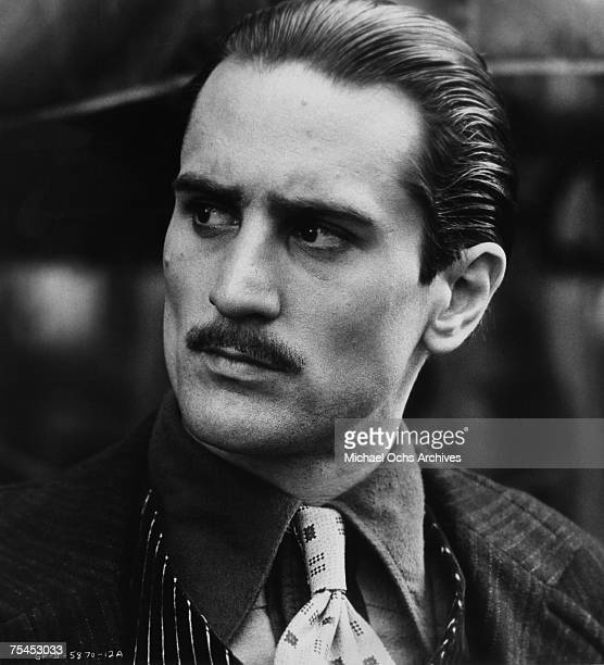 Robert De Niro performs a scene in The Godfather Part II directed by Francis Ford Coppola in 1974 in Hollywood, California.