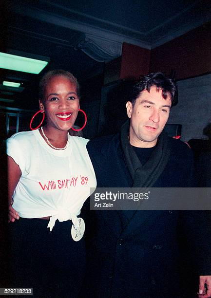 Robert De Niro posing with Toukie Smith circa 1990 New York