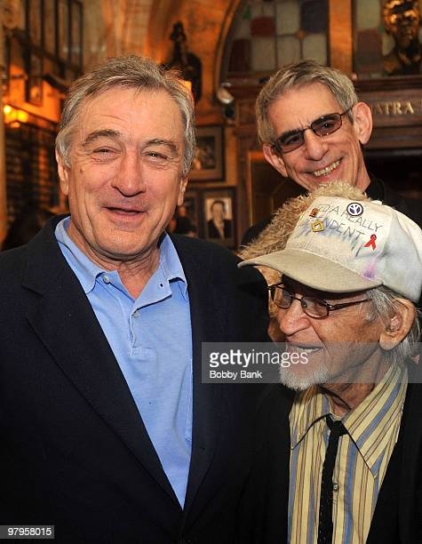 Robert De Niro Richard Belzer and Irwin Corey attend the Tribute to Mickey Freeman at the New York Friars Club on March 22 2010 in New York City