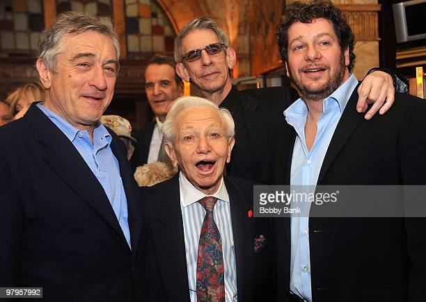 Robert De Niro Richard Belzer Mickey Freeman and Jeffrey Ross attend the Tribute to Mickey Freeman at the New York Friars Club on March 22 2010 in...
