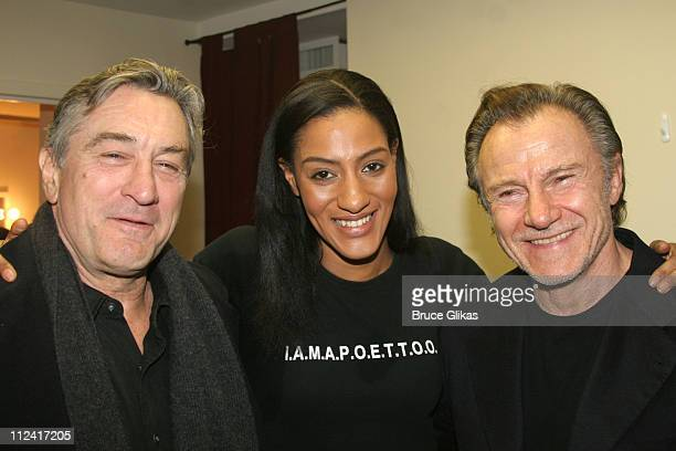 Robert De Niro Sarah Jones and Harvey Keitel *Exclusive Coverage*