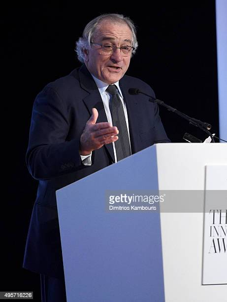 Robert De Niro speaks onstage at the WSJ Magazine 2015 Innovator Awards at the Museum of Modern Art on November 4 2015 in New York City