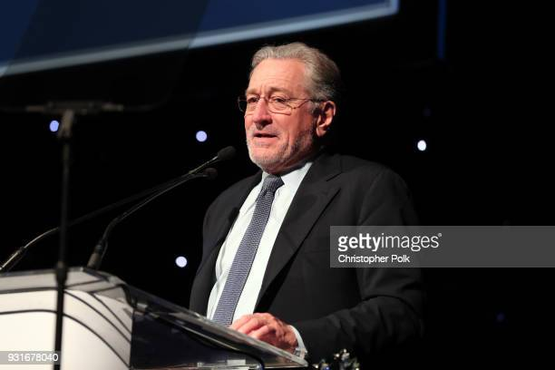 Robert De Niro speaks onstage during A Legacy Of Changing Lives presented by the Fulfillment Fund at The Ray Dolby Ballroom at Hollywood Highland...