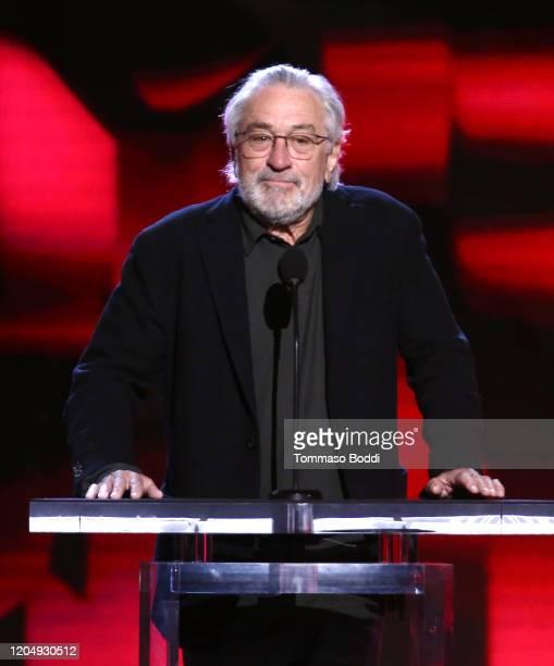 Robert De Niro speaks onstage during the 2020 Film Independent Spirit Awards on February 08, 2020 in Santa Monica, California.