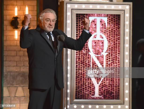 Robert De Niro speaks onstage during the 72nd Annual Tony Awards at Radio City Music Hall on June 10 2018 in New York City