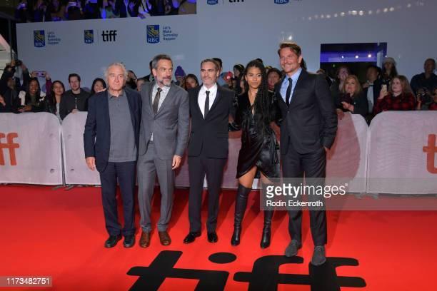 Robert De Niro Todd Phillips Joaquin Phoenix Zazie Beetz and Bradley Cooper attend the Joker premiere during the 2019 Toronto International Film...