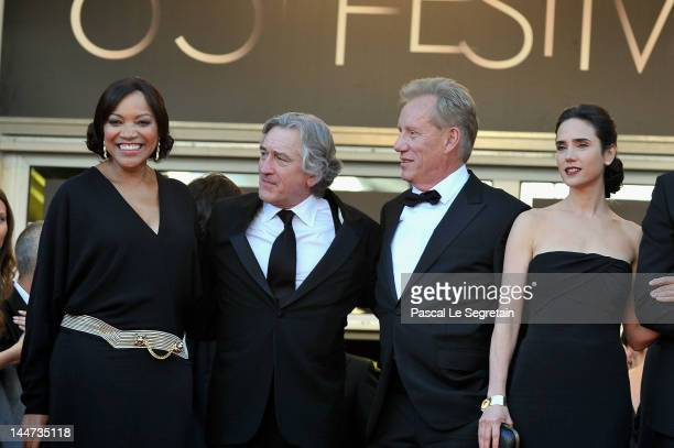 Robert De Niro, wife Grace Hightower , actress Jennifer Connelly and James Woods attend the 'Once Upon A Time' Premiere during 65th Annual Cannes...