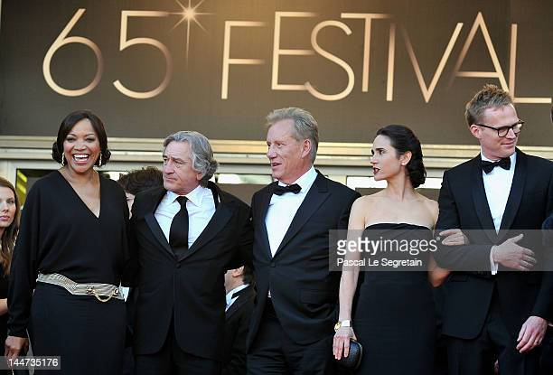Robert De Niro, wife Grace Hightower , actress Jennifer Connelly , husband Paul Bettany and James Woods attend the 'Once Upon A Time' Premiere during...