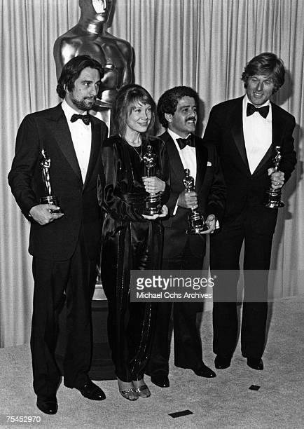 Robert De Niro, winner for Best Actor for Raging Bull, Sissy Spacek, winner for Best Actress for Coal Miner's Daughter, Ronald L. Schwary, winner for...