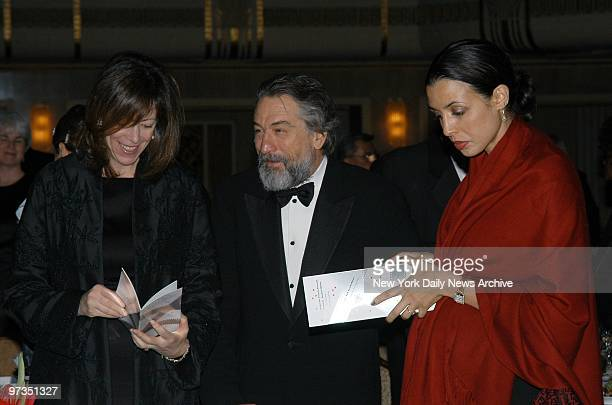 Robert De Niro with Jane Rosenthal and his daughter Drena at the New Yorker for New York awards dinner at the WaldorfAstoria He was honored at the...