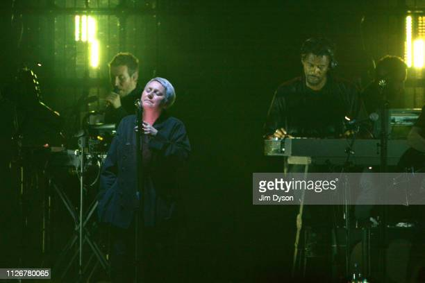 Robert Del Naja aka 3D Grant Marshall aka Daddy G and Elizabeth Fraser of Massive Attack perform live on stage during the Mezzanine XXI tour at The...