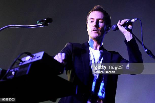 Robert Del Naja, aka 3D, of British group Massive Attack performs at Palasharp on November 7, 2009 in Milan, Italy.