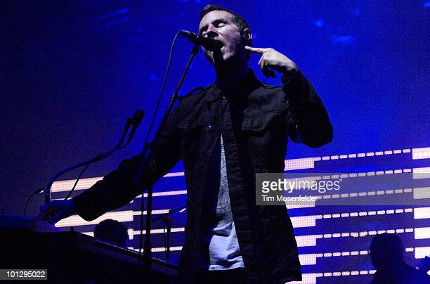 Robert Del Naja aka 3D of Massive Attack performs as part of the Sasquatch Music Festival at the Gorge Amphitheatre on May 30 2010 in George...