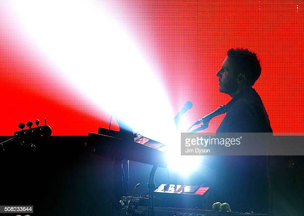 Robert Del Naja aka 3D of Massive Attack performs live on stage at at O2 Academy Brixton on February 3 2016 in London England