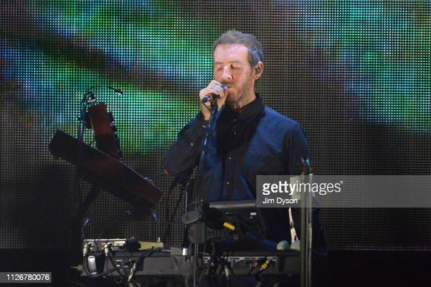 Robert Del Naja, aka 3D, of Massive Attack performs live on stage during the Mezzanine XXI tour at The O2 Arena on February 22, 2019 in London,...