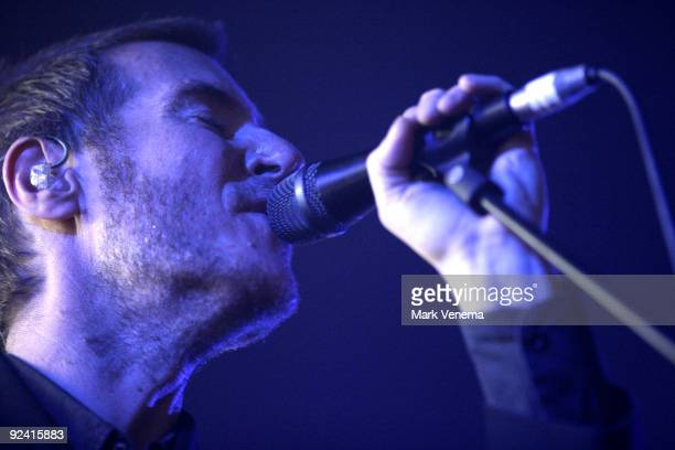 Robert Del Naja aka 3D performs live with Massive Attack at Heineken Music Hall on October 27 2009 in Amsterdam Netherlands
