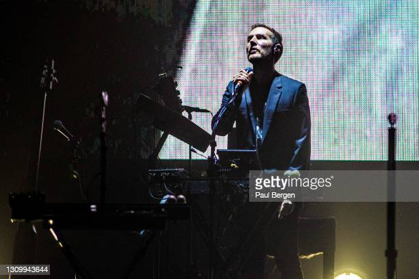 Robert Del Naja of British band Massive Attack performs on stage at Afas Live ,Amsterdam, Netherlands, 1st February 2019.