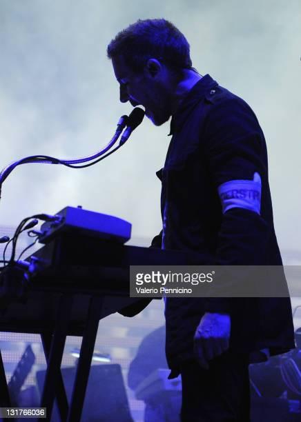 Robert Del Naja of Massive Attack performs onstage at Reggia Di Venaria on July 6 2010 in Turin Italy