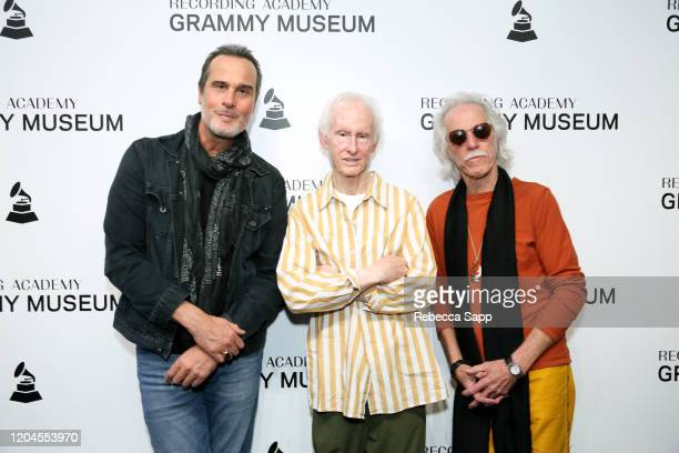 Robert DeLeo Robby Krieger and John Densmore attend Reel To Reel The Doors Break On Thru – A Celebration Of Ray Manzarek at the GRAMMY Museum on...