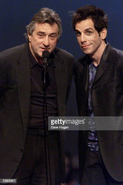 Robert DeNiro and Ben Stiller at the 2000 MTV Video Music Awards at Radio City Music Hall in New York City 9/7/00 Photo by Dave Hogan/Getty Images