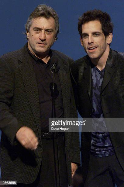 Robert DeNiro and Ben Stiller presenting at the 2000 MTV Video Music Awards at Radio City Music Hall in New York City 9/7/00 Photo by Dave...