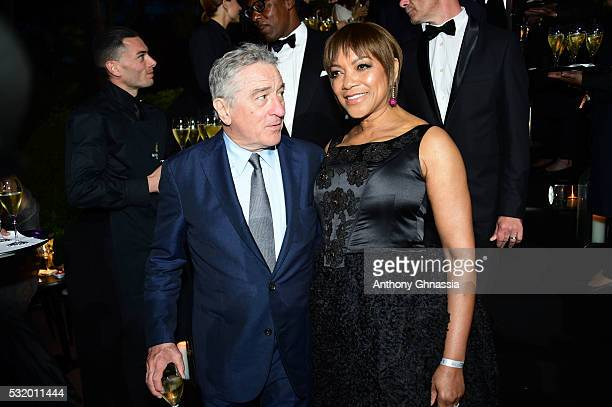 Robert DeNiro and Grace Hightower attend the De Grisogono Party at the annual 69th Cannes Film Festival at Hotel du CapEdenRoc on May 17 2016 in Cap...