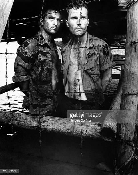 Robert DeNiro and John Savage in a scene from the movie The Deer Hunter