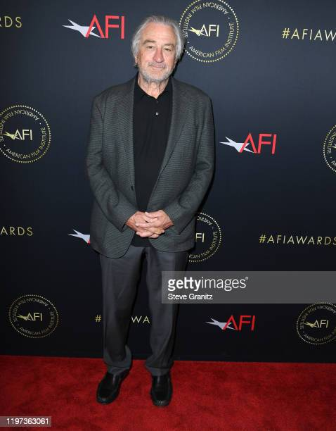 Robert Deniro arrives at the 20th Annual AFI Awards at Four Seasons Hotel Los Angeles at Beverly Hills on January 03 2020 in Los Angeles California