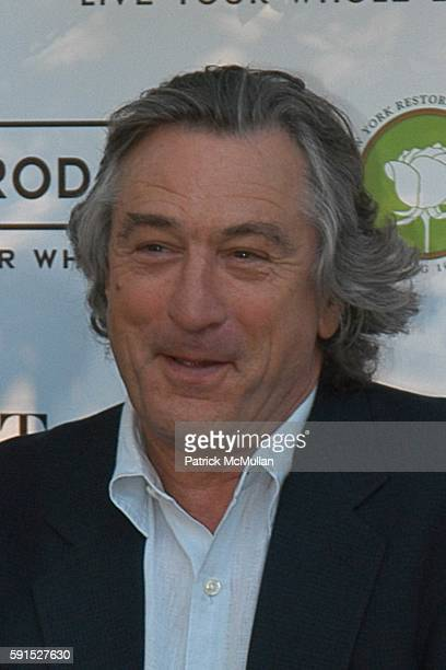 Robert DeNiro attends Bette Midler's New York Restoration Project's 4th Annual Spring Picnic at Thomas Jefferson Park on June 14 2005 in New York City