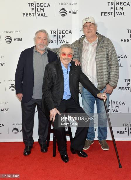 Robert DeNiro Burt Reynolds and Chevy Chase attend the Dog Years Premiere during 2017 Tribeca Film Festival at Cinepolis Chelsea on April 22 2017 in...