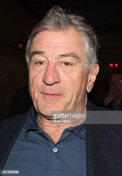 Robert DeNiro poses at The Opening Night of 'The Last Ship' on Broadway at The Neil Simon Theatre on October 26 2014 in New York City