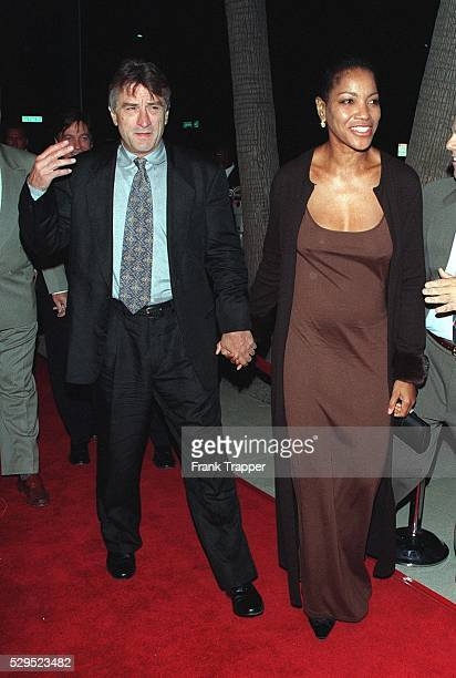 Robert DeNiro the movie's costar arrives with his girlfriend Grace Hightower