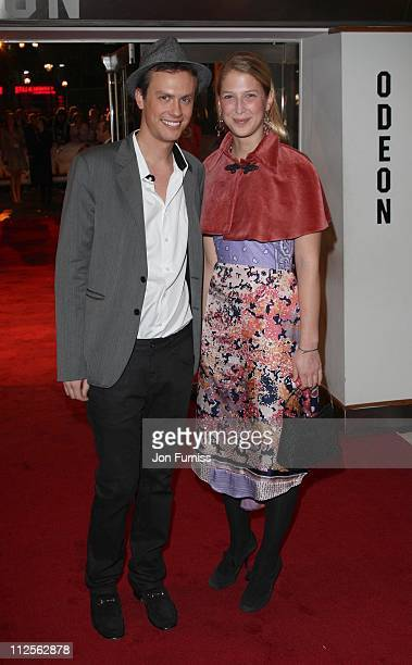 Robert Denning and Lady Gabriella Windsor attend the Elizabeth The Golden Age film premiere at the Odeon Leicester Square on October 23 2007 in London
