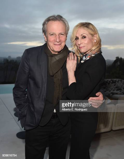 Robert Desiderio and Judith Light attend a cocktail party hosted by the Elton John AIDS Foundation and BBVA Compass to celebrate EJAF the 90th...
